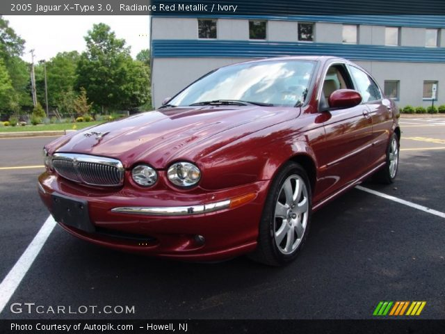 radiance red metallic 2005 jaguar x type 3 0 ivory interior vehicle archive. Black Bedroom Furniture Sets. Home Design Ideas
