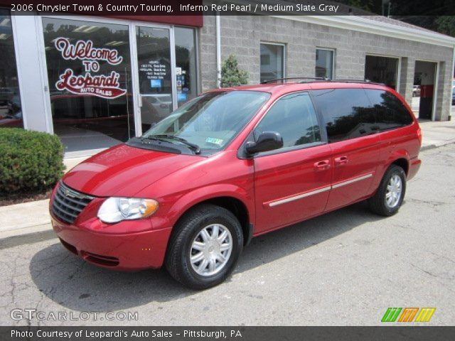 inferno red pearl 2006 chrysler town country touring medium slate gray interior gtcarlot. Black Bedroom Furniture Sets. Home Design Ideas