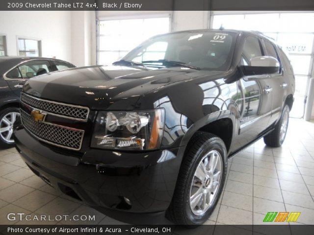 Black 2009 Chevrolet Tahoe Ltz 4x4 Ebony Interior
