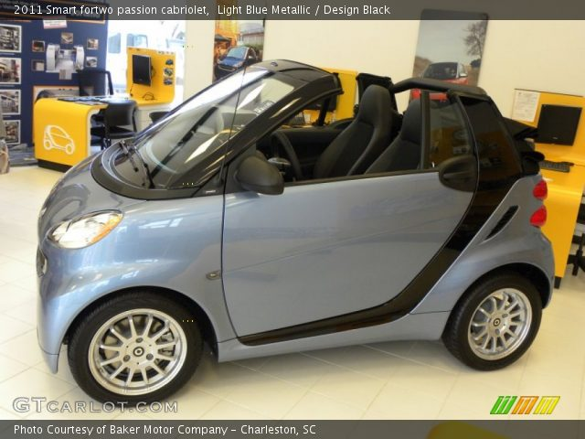2011 Smart fortwo passion cabriolet in Light Blue Metallic