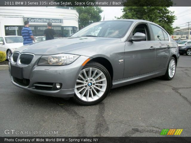 space gray metallic 2011 bmw 3 series 335i xdrive sedan black interior. Black Bedroom Furniture Sets. Home Design Ideas