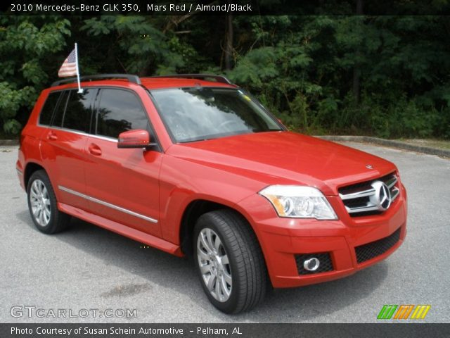 Mars Red 2010 Mercedes Benz Glk 350 Almond Black
