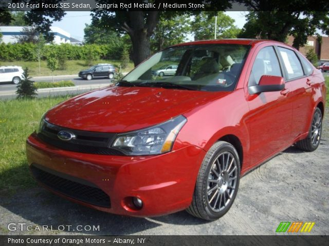 sangria red metallic 2010 ford focus ses sedan medium. Black Bedroom Furniture Sets. Home Design Ideas