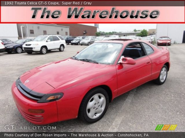 super red 1992 toyota celica gt s coupe gray interior. Black Bedroom Furniture Sets. Home Design Ideas