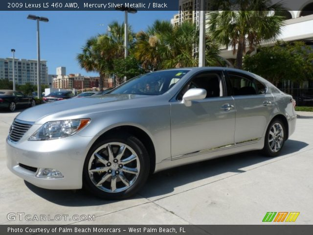 mercury silver metallic 2009 lexus ls 460 awd black. Black Bedroom Furniture Sets. Home Design Ideas