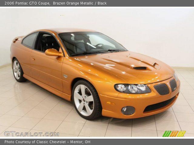 2006 Pontiac GTO Coupe in Brazen Orange Metallic