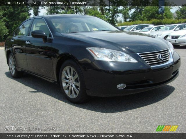 obsidian black 2008 lexus es 350 cashmere interior. Black Bedroom Furniture Sets. Home Design Ideas