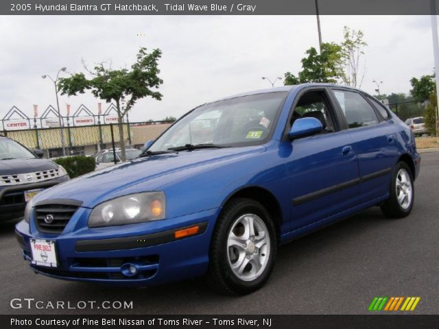 tidal wave blue 2005 hyundai elantra gt hatchback gray. Black Bedroom Furniture Sets. Home Design Ideas