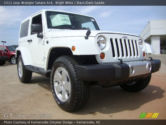 Bright White 2011 Jeep Wrangler Sahara 4x4 Black Dark Saddle Interior