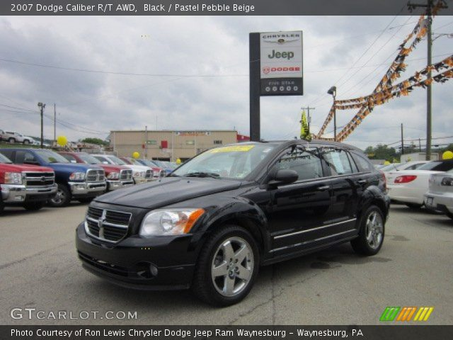black 2007 dodge caliber r t awd pastel pebble beige. Black Bedroom Furniture Sets. Home Design Ideas