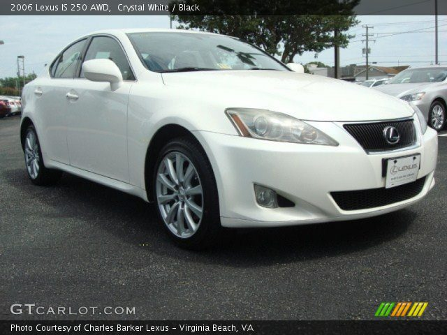 crystal white 2006 lexus is 250 awd black interior vehicle archive 50912011. Black Bedroom Furniture Sets. Home Design Ideas