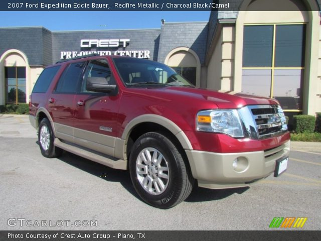 redfire metallic 2007 ford expedition eddie bauer charcoal black camel interior gtcarlot. Black Bedroom Furniture Sets. Home Design Ideas