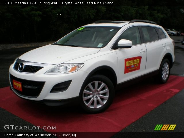 crystal white pearl mica 2010 mazda cx 9 touring awd. Black Bedroom Furniture Sets. Home Design Ideas
