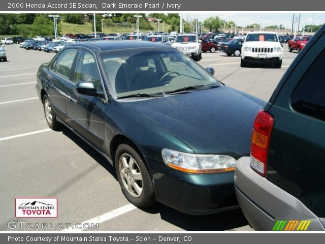 2000 Honda Accord SE Sedan in Dark Emerald Pearl
