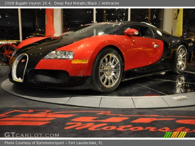 2008 Bugatti Veyron 16.4 in Deep Red Metallic/Black