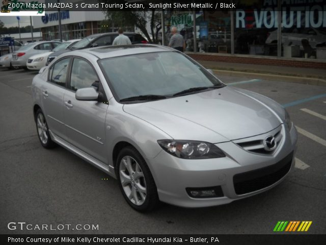 sunlight silver metallic 2007 mazda mazda3 s grand touring sedan black interior gtcarlot. Black Bedroom Furniture Sets. Home Design Ideas