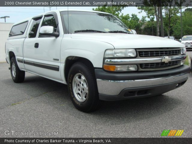 2000 Chevrolet Silverado 1500 LS Extended Cab in Summit White