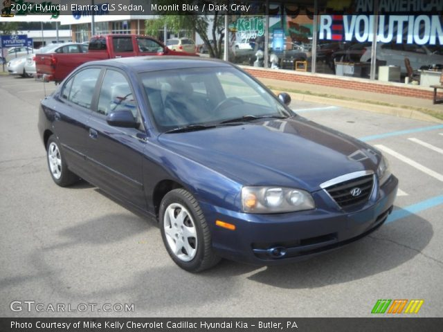 moonlit blue 2004 hyundai elantra gls sedan dark gray. Black Bedroom Furniture Sets. Home Design Ideas