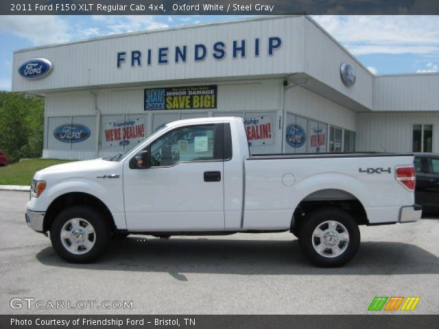 oxford white 2011 ford f150 xlt regular cab 4x4 steel gray interior vehicle. Black Bedroom Furniture Sets. Home Design Ideas
