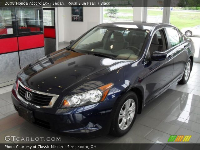 royal blue pearl 2008 honda accord lx p sedan black interior vehicle. Black Bedroom Furniture Sets. Home Design Ideas