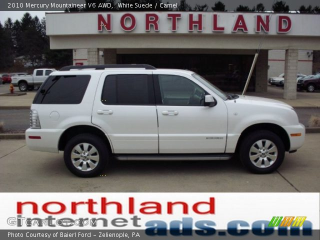 white suede 2010 mercury mountaineer v6 awd camel interior vehicle archive. Black Bedroom Furniture Sets. Home Design Ideas