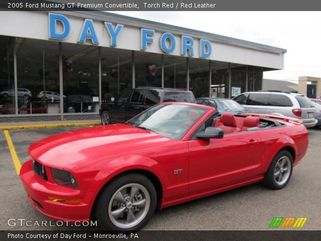 Torch Red 2005 Ford Mustang Gt Premium Convertible Red Leather Interior