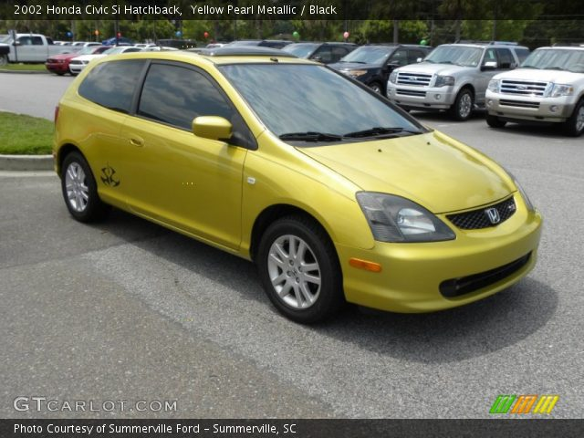 yellow pearl metallic 2002 honda civic si hatchback. Black Bedroom Furniture Sets. Home Design Ideas