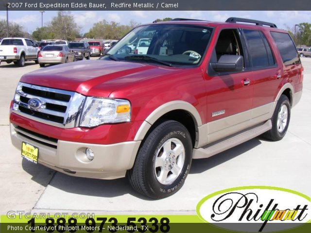 redfire metallic 2007 ford expedition eddie bauer camel interior vehicle. Black Bedroom Furniture Sets. Home Design Ideas