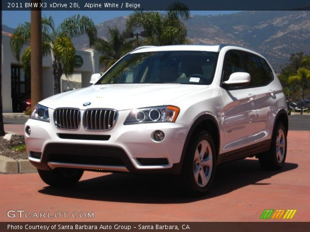 alpine white 2011 bmw x3 xdrive 28i beige interior. Black Bedroom Furniture Sets. Home Design Ideas