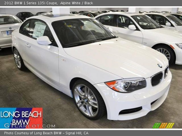 2012 BMW 1 Series 135i Coupe in Alpine White