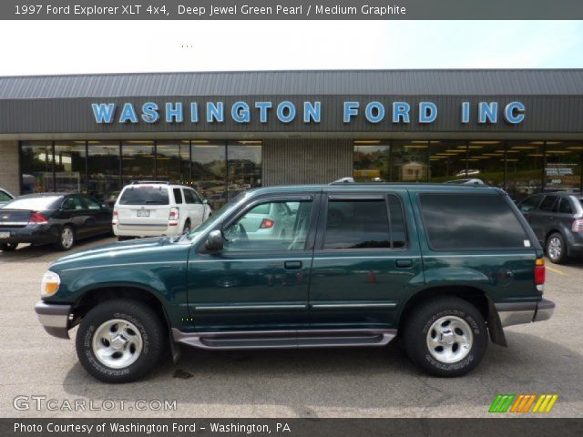 deep jewel green pearl 1997 ford explorer xlt 4x4 medium graphite interior. Black Bedroom Furniture Sets. Home Design Ideas