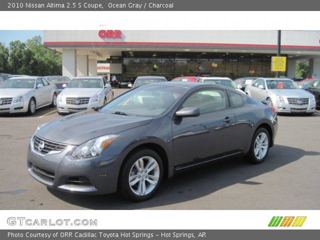 ocean gray 2010 nissan altima 2 5 s coupe charcoal interior vehicle archive. Black Bedroom Furniture Sets. Home Design Ideas