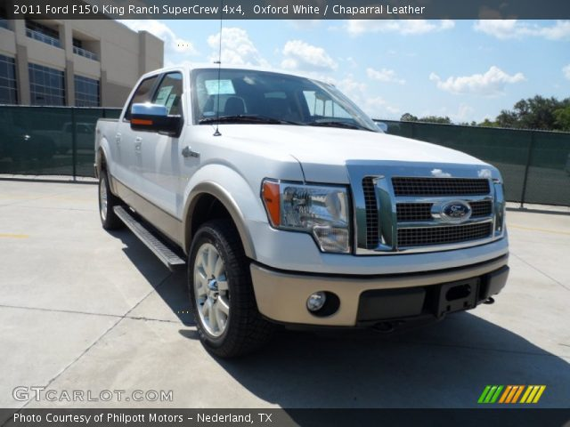 oxford white 2011 ford f150 king ranch supercrew 4x4 chaparral leather interior gtcarlot. Black Bedroom Furniture Sets. Home Design Ideas