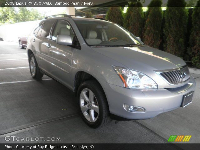 bamboo pearl 2008 lexus rx 350 awd ivory interior vehicle archive 51134645. Black Bedroom Furniture Sets. Home Design Ideas