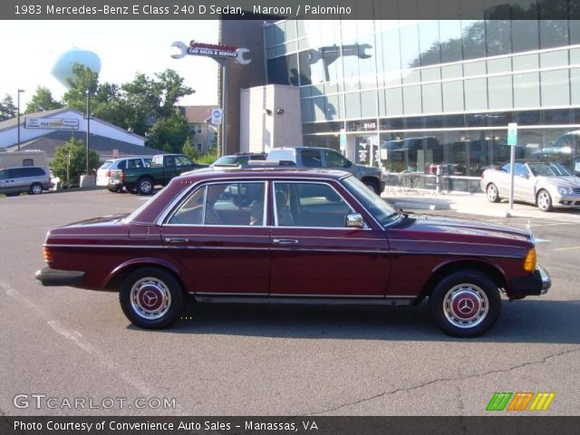 1983 Mercedes-Benz E Class 240 D Sedan in Maroon