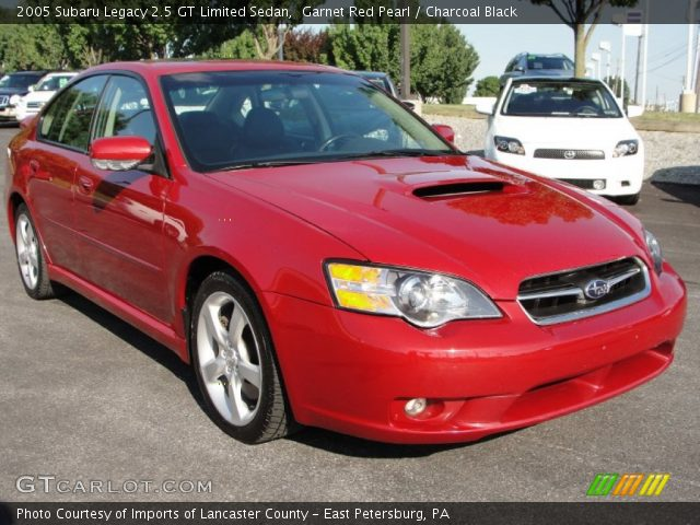 garnet red pearl 2005 subaru legacy 2 5 gt limited sedan. Black Bedroom Furniture Sets. Home Design Ideas