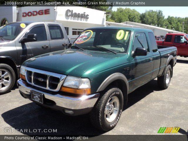 Amazon Green Metallic 2000 Ford Ranger Xlt Supercab 4x4 Medium Graphite Interior Gtcarlot