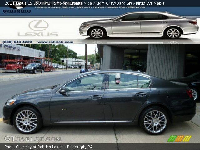 smokey granite mica 2011 lexus gs 350 awd light gray. Black Bedroom Furniture Sets. Home Design Ideas