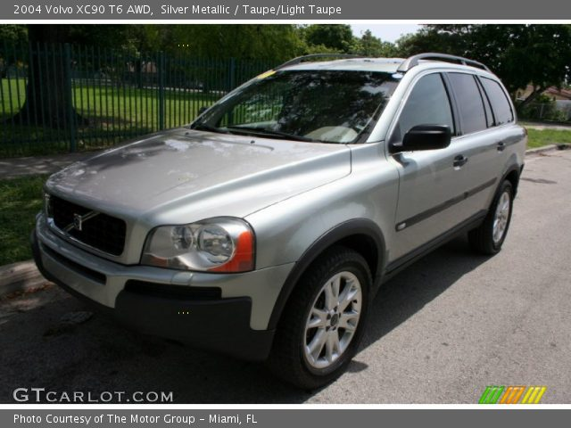silver metallic 2004 volvo xc90 t6 awd taupe light taupe interior vehicle. Black Bedroom Furniture Sets. Home Design Ideas