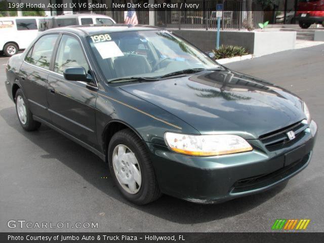 new dark green pearl 1998 honda accord lx v6 sedan ivory interior vehicle. Black Bedroom Furniture Sets. Home Design Ideas