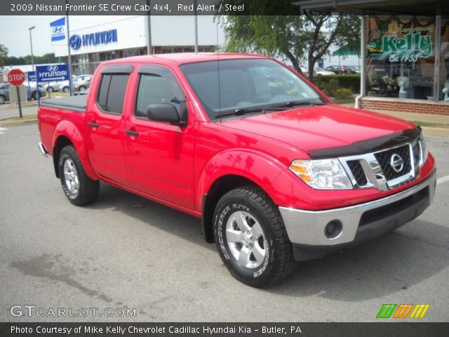 red alert 2009 nissan frontier se crew cab 4x4 steel interior vehicle. Black Bedroom Furniture Sets. Home Design Ideas