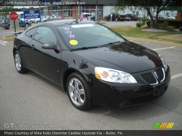 black 2008 pontiac g6 gt coupe ebony black interior vehicle archive 51272228. Black Bedroom Furniture Sets. Home Design Ideas