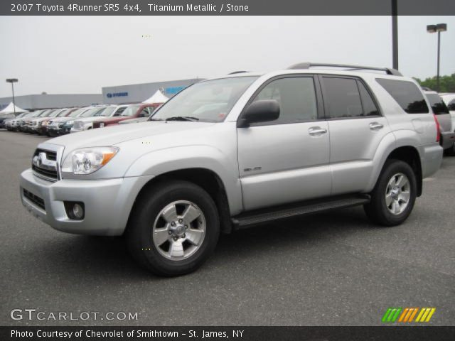 titanium metallic 2007 toyota 4runner sr5 4x4 stone interior vehicle. Black Bedroom Furniture Sets. Home Design Ideas