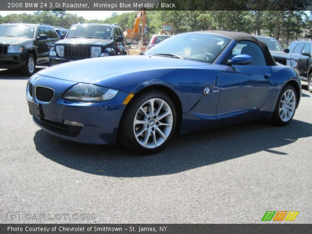 montego blue metallic 2006 bmw z4 roadster black. Black Bedroom Furniture Sets. Home Design Ideas