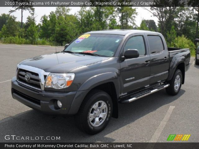 magnetic gray metallic 2010 toyota tacoma v6 prerunner double cab graphite interior. Black Bedroom Furniture Sets. Home Design Ideas
