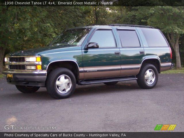 emerald green metallic 1998 chevrolet tahoe lt 4x4 neutral interior vehicle. Black Bedroom Furniture Sets. Home Design Ideas