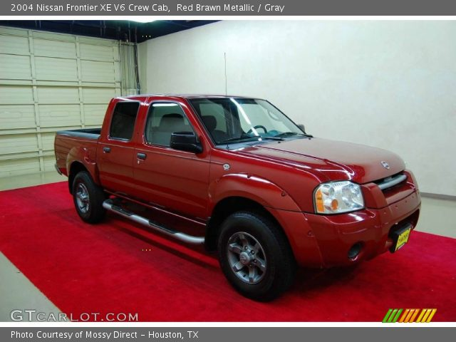 red brawn metallic 2004 nissan frontier xe v6 crew cab gray interior. Black Bedroom Furniture Sets. Home Design Ideas