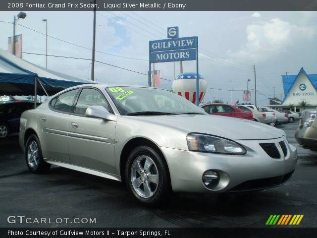 2008 Pontiac Grand Prix Sedan in Liquid Silver Metallic