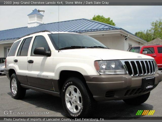 stone white 2003 jeep grand cherokee laredo 4x4 dark slate gray interior. Black Bedroom Furniture Sets. Home Design Ideas