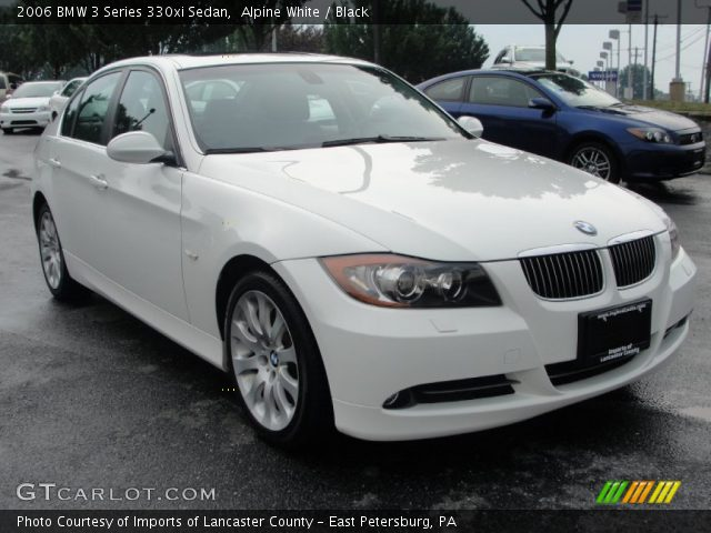 alpine white 2006 bmw 3 series 330xi sedan black interior vehicle archive. Black Bedroom Furniture Sets. Home Design Ideas
